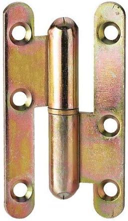 PAUMELLE DROITE GOND DE PORTE B/ÂTIMENT BOUT ROND 80 x 45 mm