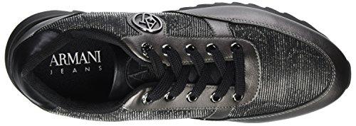 Mujer Runner Sneaker Negro Zapatillas 00020 para Armani Nero q5ICBCw