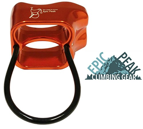 Epic Peak Double Slot Belay Device for Climbing with Free Decal