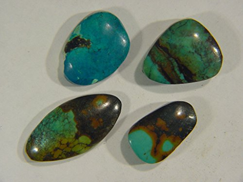 Genuine Natural Chinese Turquoise Lapidary Freeform Cabochon 9526C h