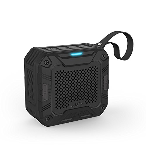 Jarv DuraVibe PRO Portable Bluetooth Speaker, Indoor/Outdoor/Shower Wireless Speaker, Water Resistant, Shockproof, Dustproof, Bike Mount Speaker with Stereo Sound - Black (Handlebar Mount Optional)