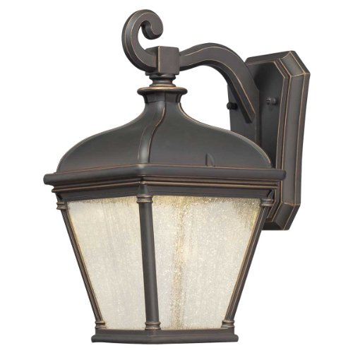 Minka Lavery 72392-143C 1 Light Outdoor LED Wall Mount Lighting, Oil Rubbed Bronze with Gold Highlights
