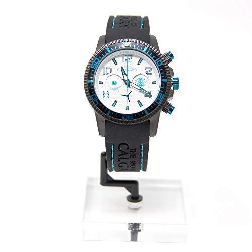 Reloj Calgary, Mazzini Blue, Correa Negra con Detalles Azules y Esfera Blanca: Amazon.es: Relojes