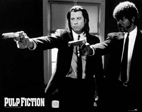 Pulp Fiction Duo Guns John Travolta Samuel Jackson Tarantino Comedy Crime Film Movie Poster 20X16