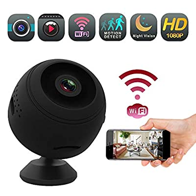 Wireless Mini Nanny Wifi Camera - EyeBall 1080 Full HD Video & Night Vision Home and Office Surveillance IP Camera, With Motion Detection, Looping Video and Wi-Fi Remote View On Phone and PC Cameras from Enji Prime