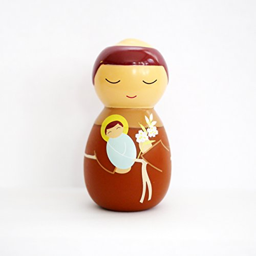 Shining Light Dolls LLC St. Anthony of Padua Collectible Vinyl Figure with Prayer and Story Card ()