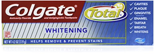 Colgate Total Whitening Gel Toothpaste, 4.2 Ounce (Pack of 3)