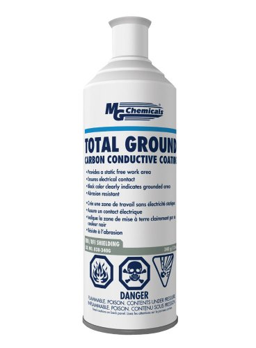(MG Chemicals Total Ground Carbon Conductive Coating, 340 g (12 Oz) Aerosol Can, Dark Grey)