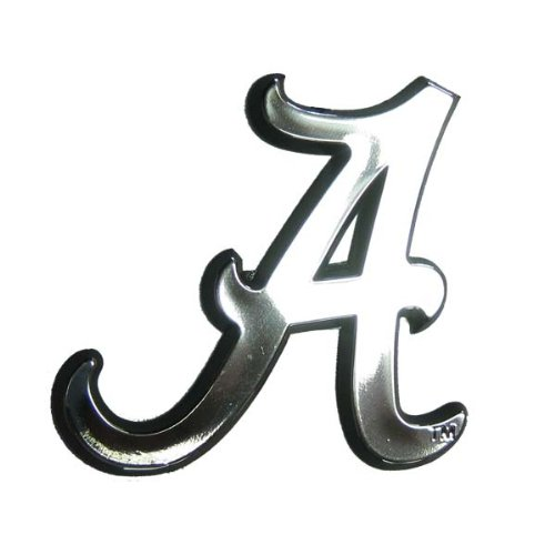 Alabama Crimson Tide NCAA Chrome 3D for Auto Car Truck Emblem Decal Sticker College Officially Licensed Team Logo