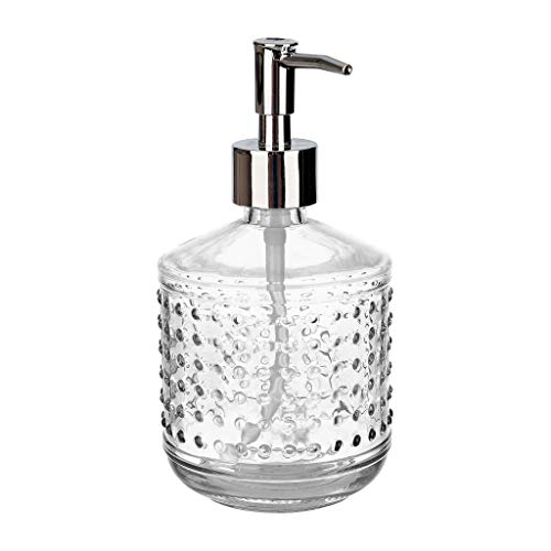 Rail19 Hobnail Glass Liquid Hand Soap Dispenser Pump for The Kitchen and Bathroom Sink (Clear) for $<!--$16.50-->