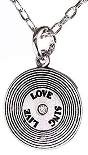 Shag Wear Dream and Music Inspirations Quote Pendant Necklace (Live Love Sing Pendant)
