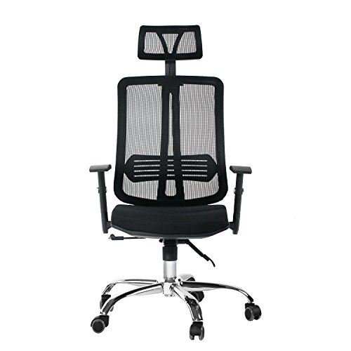 CCTRO Mesh Ergonomic Office Chair With Adjustable Headrest And Armrest, 360  Degree Swivel Modern Computer