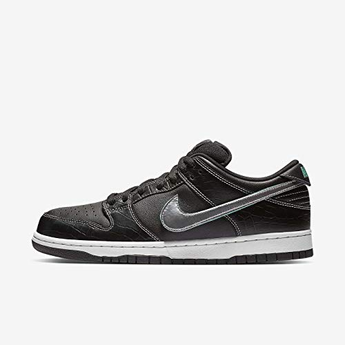 Nike Men's SB Dunk Low Pro OG QS, Black/Chrome-Black, 9 M US