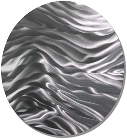Statements2000 Modern All Natural Silver Round Metallic Accent