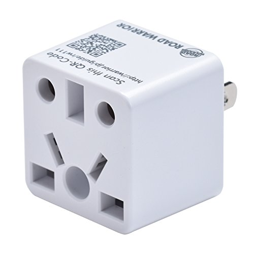 America Standard Adapter - ROAD WARRIOR US Travel Plug Adapter EU/UK/CN/AU/IN to USA (Type A) - RW111WH-US