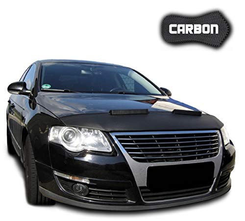 Hood Bra for VW Passat B6 3C CARBON Bonnet Car Bra Front End Cover Nose Mask Stoneguard Protector TUNING