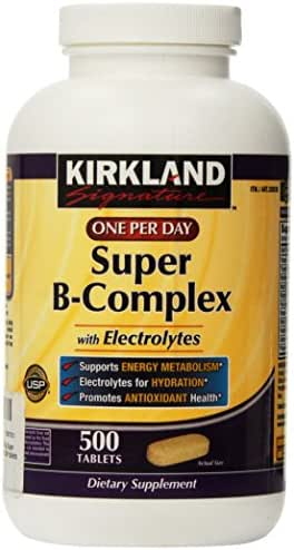 Kirkland Signature One Per Day Super B-Complex with Electrolytes,500 tablets