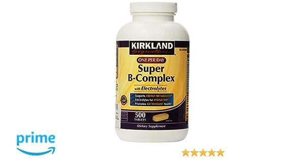 Kirkland Signature One Per Day Super B-Complex with Electrolytes,500 tablets by Kirkland: Amazon.es: Salud y cuidado personal