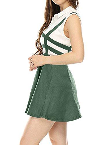 Fox Haute Jupe Fr Personnalit Jupe Taille ulein t Femmes Vert Ajoure Mini Fte Jupes de Mode Bandage Bretelles de Plage 0rXq5X4