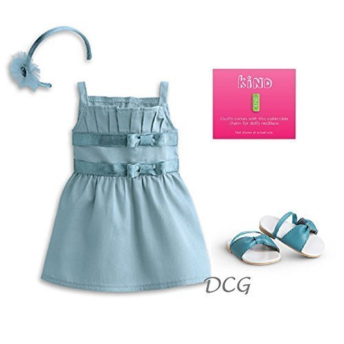 American Girl MY AG 2014 - Double-Bow Dress and Charm for Dolls