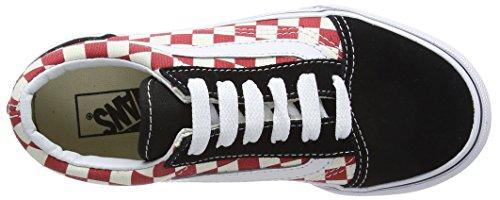 Checkerboard Skool Red Kids Vans Shoe Old Black Skate zUxX0qw0E