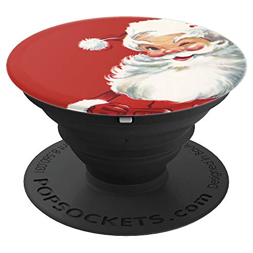 - Vintage Christmas Illustration, Jolly Santa Claus Winking - PopSockets Grip and Stand for Phones and Tablets