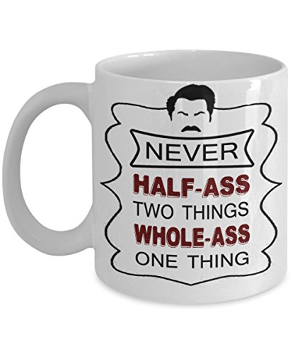 RON SWANSON COFFEE MUG ~ best gifts for dad/mum/her/him or whoever likes to have coffee mugs with quote/ pyramid of greatness - bust- bobblehead - breakfast - funny- personalized-novelty - Head Ceramic Bobble