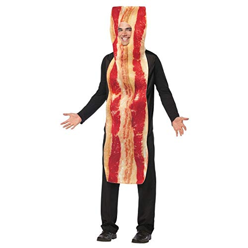 Pancake Halloween Costume (Rasta Imposta Bacon Strip Costume, Brown, One)