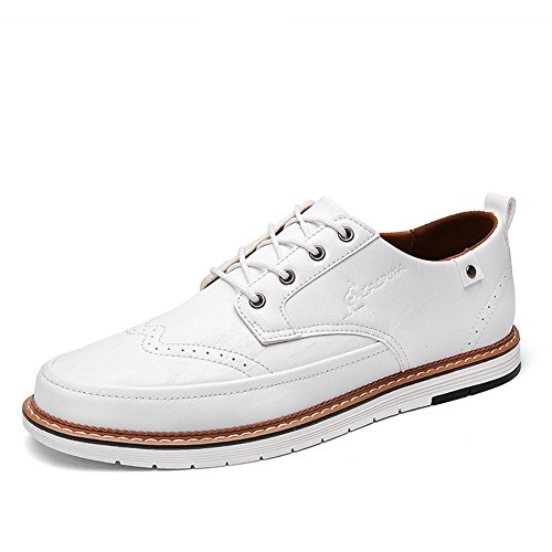 Bianco lavoro Lace uomo Pure leggero da Pure Casual Traspirante Estate Shoe Scarpe Scarpe Business B Primavera XUE Business Brown Grey Black formale up PU Pure 6vnxTBOBq
