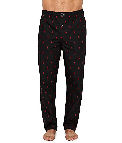 Polo Ralph Lauren Men's All Over Pony Player Woven Pants Polo Black Small