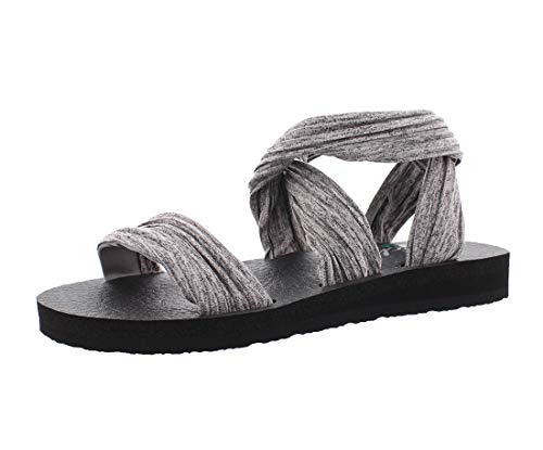 Skechers Cali Women's Meditation-Still Sky Flat Sandal,gray,9 M US