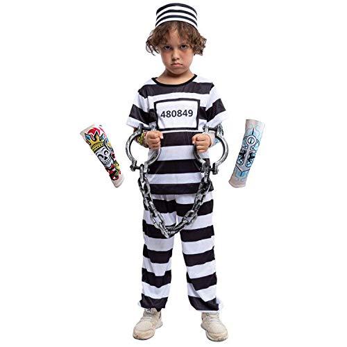 Baby Jailbird Convict Inmate Adorable Halloween Costume
