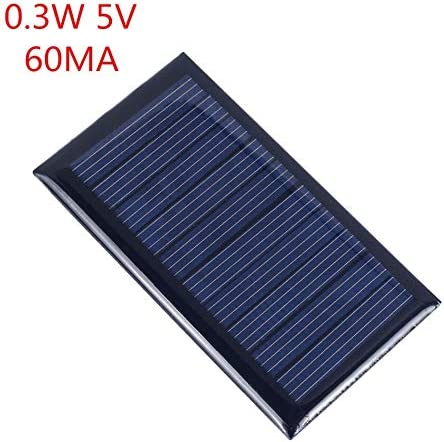 Z.L.FFLZ Mini Solar-Panel wasserdichte beweglicher Sonnenkollektor polykristalliner for Batteriezellen Ladegeräte 5 PC Solarzellenpaneels 0.3W 5V 60mA