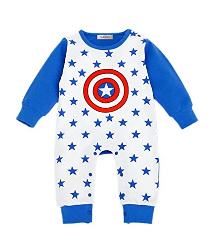 Super Hero Baby Toddler Boy Costume Jumpsuit Captain America