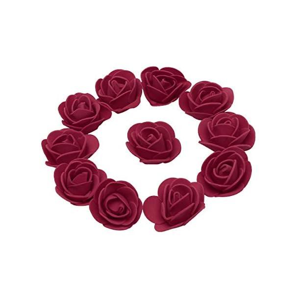 6e9ea94c3d3 KODORIA 100pcs Artificial Foam Rose Head Artificial Rose Flower for ...