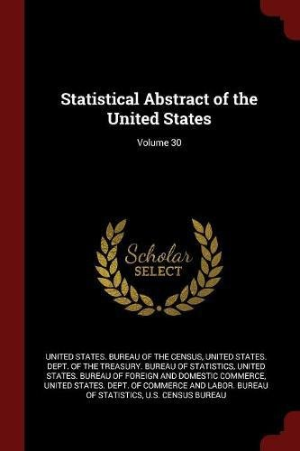 Download Statistical Abstract of the United States; Volume 30 PDF