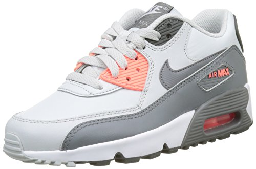 half off 1c0de 24826 NIKE Air Max 90 LTR Pure Platinum Cool Grey (Big Kid) (4 M US) - Buy Online  in Oman.   Shoes Products in Oman - See Prices, Reviews and Free Delivery  in ...