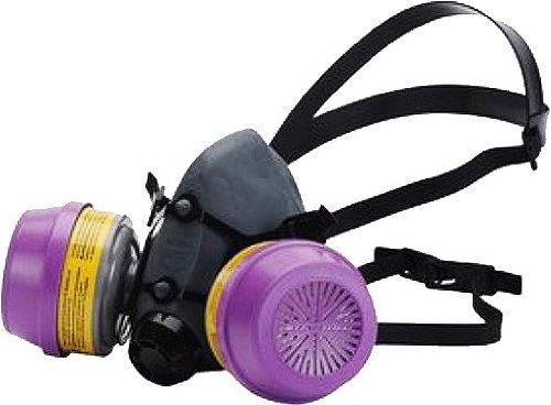 5500 Series Half Mask with 2 Organic Vapor & Acid Gas Cartridges with P100 Filters, Size Medium