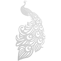 ROSENICE Wine Glass Wedding Place Card Peacock Design Party Favor Decoration 50pcs White