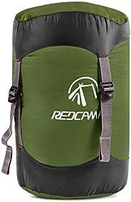 REDCAMP Nylon Compression Stuff Sack, 10L/20L/35L/45L Lightweight Sleeping Bag Compression Sack Great for Back