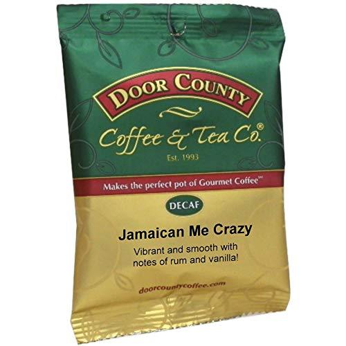 (Door County Coffee, Jamaican Me Crazy Decaf, Ground, 1.5oz Full-Pot Bag)