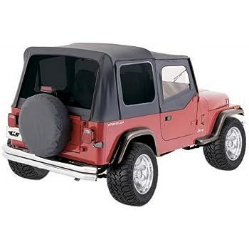 Rampage 77015 Tailgate Bar Kit for 1987-2006 Jeep Wrangler TJ /& YJ