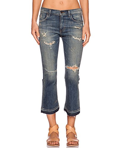 Citizens of Humanity Women's Drew Crop Flare Rip It Up Jeans (Blue Wash, 28) by Citizens of Humanity
