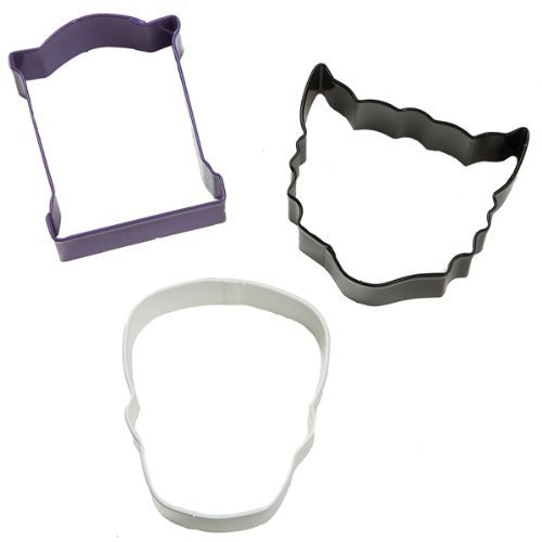HalloweenCookie Cutter Set of Three - Tombstone, Skull, Cat