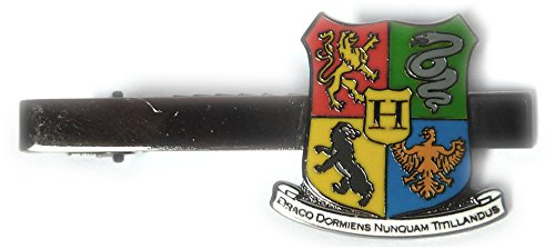 Harry Potter Hogwarts Coat of Arms Crest Suit Work Tie Bar Clip -