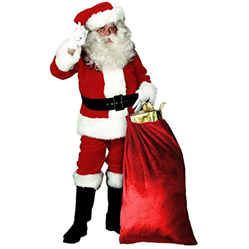 CHSGJY Santa Suit Adult Christmas Costumes for Men Deluxe Plush Santa Claus Fancy Dress X-Large by CHSGJY