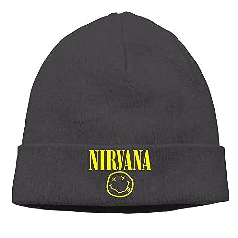 Nirvana Logo Smiley Face Skull Beanies Hat Training Slouchy Beanie Cap - Smiley Black Cap