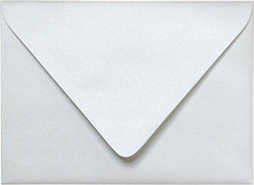 Outer A-7.5 Pearl White Metallic Euro Flap Envelopes (5 1/2