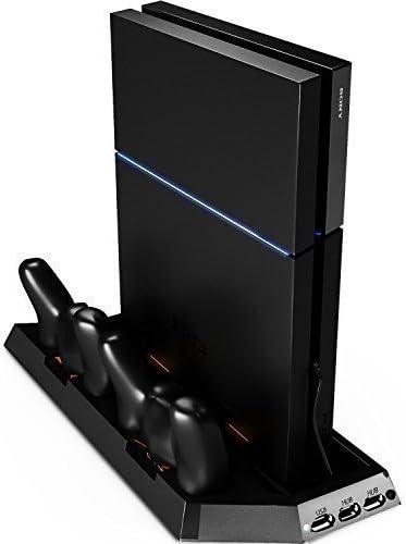 GameCheers PS4 Estacion de enfriamiento y carga para 2 mandos de Playstation 4 - Cooling Stand y Cargador de 2 Controles - Negro: Amazon.es: Videojuegos
