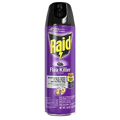 Raid Flea Killer for Home and Dogs, 16 Ounce, 6 Pack by Raid